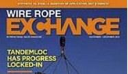 Picture of Tandemloc on the cover of Wire Rope Exchange magazine!