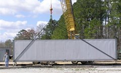 "Picture of Q2500AA-400D ""TACOM"" Style Load Leveling Bottom Lift Sling for 20' & 40' ISO Containers,"